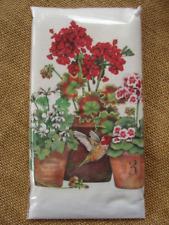Mary Lake Thompson Flour Sack Towel - Potted Geraniums, Hummingbird