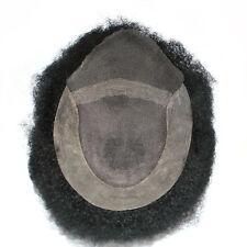 jet black Afro hair piece wig for black men natural human hair for black man