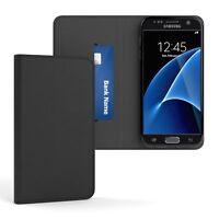 Tasche für Samsung Galaxy S7 Cover Handy Schutz Hülle Case Etui Schwarz