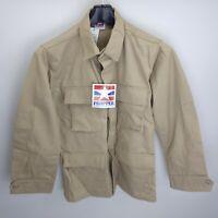 Propper Khaki BDU 4 Pocket Combat Tactical Coat Shirt - Sz Small Regular NEW #1