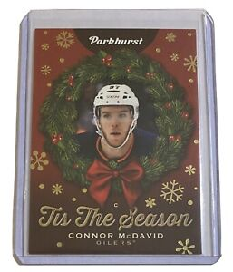 Connor McDavid TS-1 Tis The Season SSP Super Rare 2020-21 Parkhurst