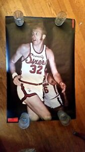 POSTER Billy Cunningham Sports Illustrated 1971 vintage Mint ; Phila 76ers