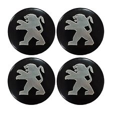 4 X 55 MM PEUGEOT REPLICA BADGE STICKER IDEAL FOR WHEEL TRIMS HUB CAPS CENTRES