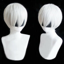 NieR:Automata 9S YoRHa No.9 Model S Wistalia Short White Mixed Cosplay Hair Wig