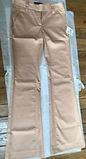 SALVATORE FERRAGAMO Women's Peach Pink Cotton Casual Pants Size 38 NEW