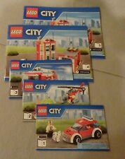 Lego CITY Instruction Manual Only NEW #60110 Fire Station Bks. 1-2-3-4-5