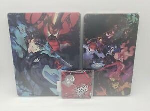 Persona 5 Strikers Best Buy PS4 Switch Steelbook Sealed Gamestop Pin NO GAME