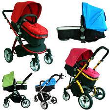 Multifunctional Baby Toddler Pram Stoller Bassinet 4 Wheel 360 Reversible Jogger