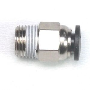 4mm OD Tube x 1/8 BSPT Male Straight Push to Connect Fitting FasPartsUSA