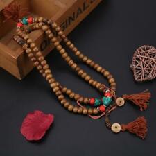 Tibetan 108 Mala Prayer Beads Sandalwood Buddhist Bracelet Necklace Meditation