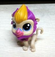 """2"""" Littlest Pet Shop LPS Beige Purple Yellow Baboon Figure Collection Toy Gift"""