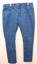 Miley Cyrus Max Azria Leopard Print Stretch Jeans Blue PLUS Jr. Size 17