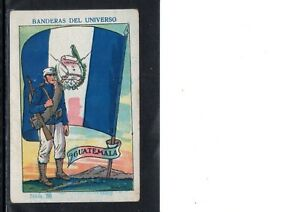 VERY EARLY GUATEMALA PATRIOTIC TRADE CARD, LARGE FLAG AND SOLDIER, SCARCE CARD