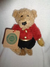 Bear Boyds Cagney Red Black Soldier Bell Boy 1990-93 Stuffed Plush Jointed Teddy
