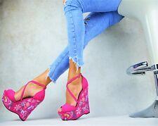 Designer Super Sexy Platform High Heels XXL Wedge Ladies' Shoes Party Court