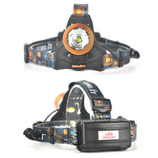 Zoomable 13000lm XM-L T6 LED Headlamp Rechargeable Headlight Flashlight 2x18650