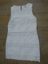 J.Crew Off White Floral Lace Beautiful Shift dress  100% Cotton Size US 6 UK 10