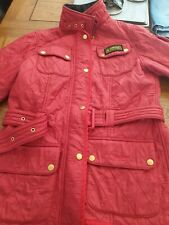 Barbour jacket 12 RED