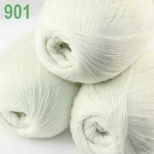 AIP 3 Balls x50gr LACE Soft Acrylic Wool Cashmere hand knit Crochet Wrap Yarn 01