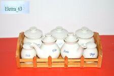 Set da cucina in Porcellana Bianca Olio Aceto Sale Pepe Caffè The Zucchero