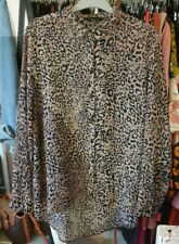 New Look Leopard Print Blouse Size 12