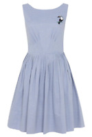 Emily and Fin Abigail Dress Chambray Stripe