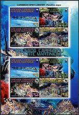 Grenada Grenadines 2009 Caribbean Spiny Lobster WWF MNH Sheet #A91691