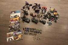 HALO - Mega Bloks/Contrux - Vehicle Building Set Pieces Lot + Minifigs + more