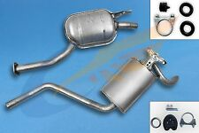 MERCEDES W201 190 1.8 2.0 82-93 Full exhaust system + mounting kit