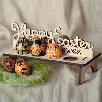 Wooden Easter Egg Shelves for Easter Party Ornament Easter Decorat kl