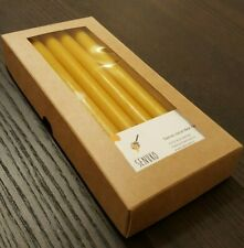 12 pcs Natural beeswax handpured candles (8 INCH)