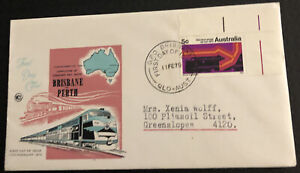 Australian FDC WCS 1970 Completion Of Standard Rail Gauge Brisbane Perth