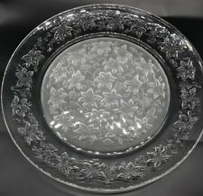 Princess House Crystal Fantasia Torte Serving Plate Platter Clear Frosted