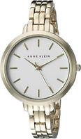 Anne Klein Womens Gold Tone Bracelet Watch 2852