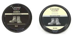 CHERRY BLOSSOM DUBBIN BLACK NEUTRAL 50ML TIN WATERPROOFS LEATHER SHOE & BOOT WAX