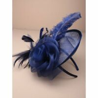 large Navy Hat with headband, Weddings, Races, Ladies Day
