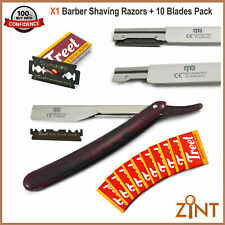 Barber Straight  Shaving Razor Cut Throat Shaving Razors Free Pack Of 10 Bladles