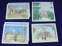 Colonial Williamsburg VA 7 Blank Note Cards 4 scenes Heritage Art Boxed Set