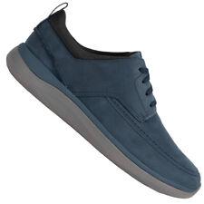 Clarks Garratt Street Elegant Herren Nubuk Freizeit Schuhe 261502187 blau neu