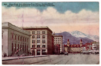 Vintage Postcard Pike's Peak Ave. Colorado Springs Colorado Antlers Hotel I-6