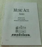 Music Ace Series Version 3.0 User Guide Windows Macintosh Booklet 2002 PB
