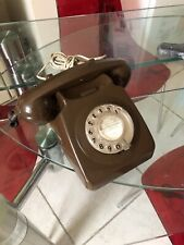 Vintage / Retro 1970s Chocolate Brown GPO BT 746 Dial Telephone in GWO