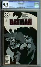 BATMAN #407 CGC 9.2 WHITE PAGES // PART 4 OF YEAR ONE STORYLINE 1987