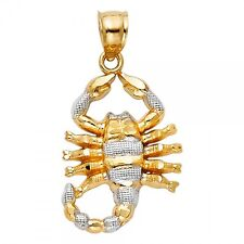 14K Two Tone Gold Scorpion Pendant GJPT1588