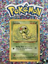 �� Caterpie Base Set Pokemon Card Wizards WotC Game Freak Nintendo 1999 �