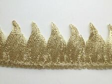 All Over Gold Cord Embroidery Applique Motif Lace Trim Haberdashery -- (EB0142)
