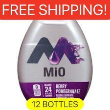 12 Bottles MIO BERRY POMEGRANATE liquid Water Enhancer. 1.62 Oz Per Bottle.