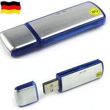 Digital Diktiergerät Aufnahmegerät Audio Voice Recorder 8GB USB Stick Silber DE