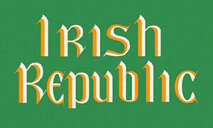 IRISH REPUBLIC 1916 FLAG - 5 X 3FT IRISH REPUBLICAN EASTER RISING REBEL EIRE IE