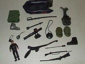 Vintage Lot of GI Joe Toy Parts, Pieces, Helmets, Etc.